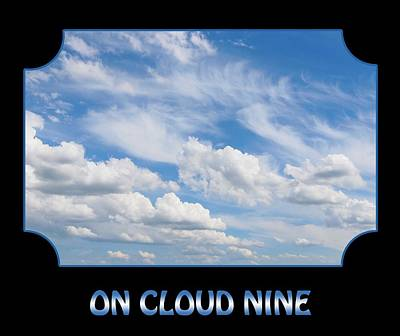 Photograph - On Cloud Nine - Black by Gill Billington