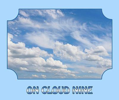 Photograph - On Cloud Nine - Blue by Gill Billington