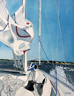 Painting - On Deck by Carolyn Koup