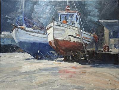 Painting - On Drydock by Candi Hogan