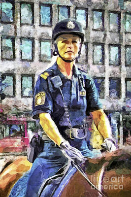 On Duty Art Print by GabeZ Art