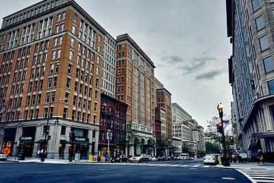 Crosswalk Photograph - On F Street - Washington D C by Alexey Topolyanskiy