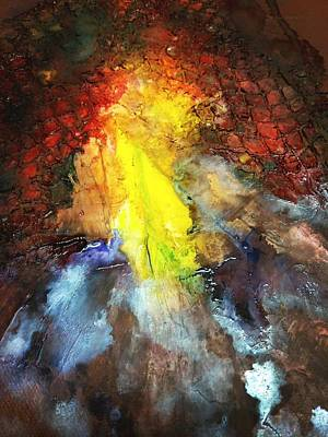 Netting Mixed Media - On Fire by Jounda Strong
