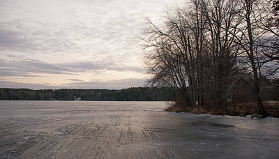 Photograph - On Frozen Pond by John Black
