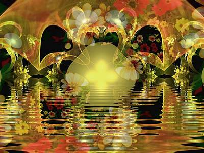 Digital Art - On Golden Pond by Nancy Pauling
