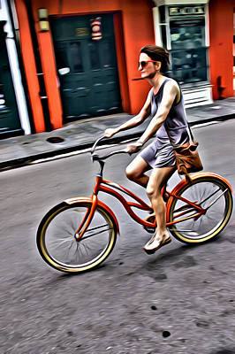 Photograph - On Her Bike by Alice Gipson