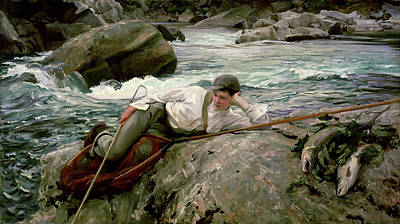 Net Painting - On His Holidays - Norway by Mountain Dreams