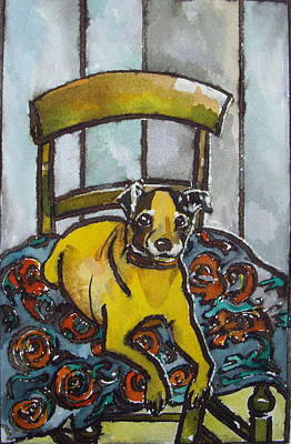 On His Masters Chair Art Print by Victoria Glover