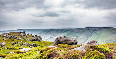 Photograph - On Kinder Scout by Nick Bywater