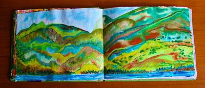 Painting - On Lake Chelan Washington State by Polly Castor
