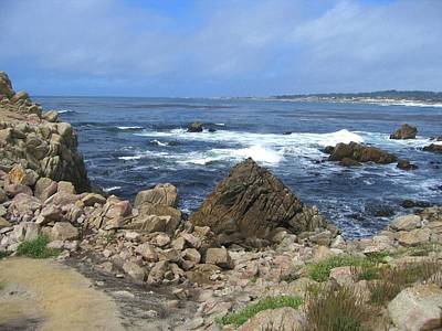 Art Print featuring the photograph On Monterey Bay Near Pebble Beach by Don Struke