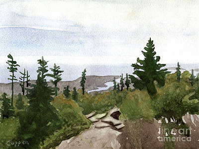 Maine Landscapes Painting - On Mount Desert Island by Robert Coppen
