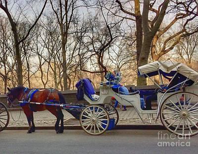 On My Bucket List Central Park Carriage Ride Art Print