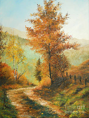 Painting Royalty Free Images - On my Way Home Royalty-Free Image by Sorin Apostolescu