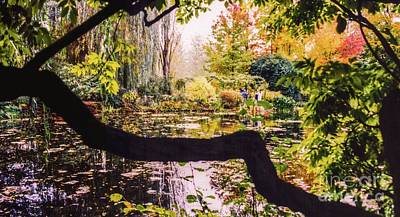 Art Print featuring the photograph On Oscar - Claude Monet's Garden Pond  by D Davila