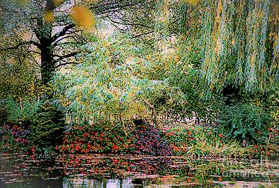 Art Print featuring the photograph Reflection On, Oscar - Claude Monet's Garden Pond by D Davila