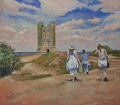 Painting - On Our Way To Broadway Tower by Nop Briex