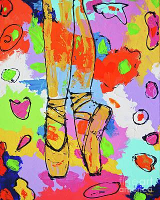 Painting - On Pointes by Zaira Dzhaubaeva