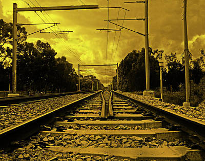 Photograph - On Rails by Mark Blauhoefer