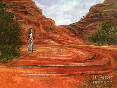 Sacred Land Painting - Sedona - On Sacred Ground by Ellen Levinson