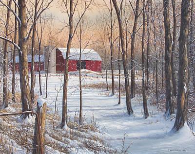 On That Snowy Morn Art Print