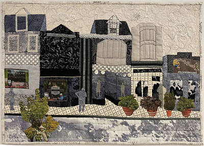 Tapestry - Textile - On The Avenue by Martha Ressler