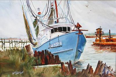 On The Back Bay Biloxi Art Print