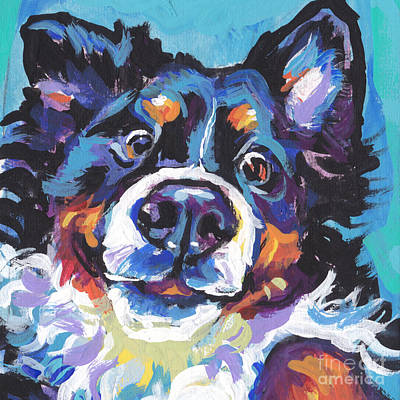Bernese Mountain Dog Painting - On The Back Berner by Lea S