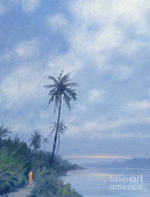 Vegetation Painting - On The Backwaters by Derek Hare
