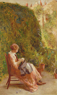 Sit-ins Painting - On The Balcony by Henry Thomas Schafer