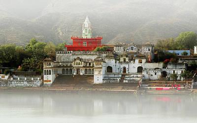 On The Banks Of Pushkar Art Print by Nicole Daniah Sidonie