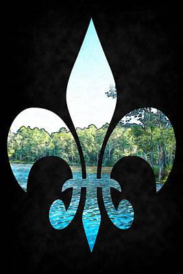 Digital Art - On The Bayou - Fleur-de-lis by Barry Jones