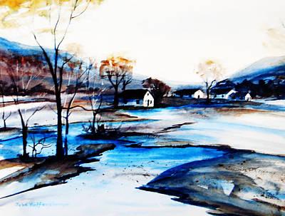 Bleak House Painting - On The Bayou by John Wolfersberger