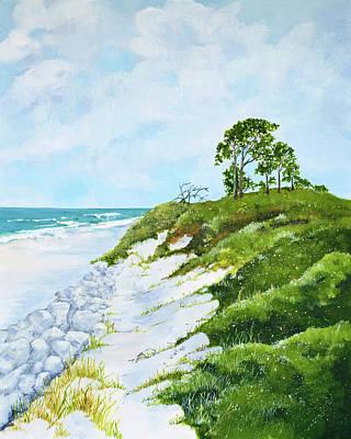 Peaceful Scene Painting - On The Beach At Jekyll Island by Virginia McLaren