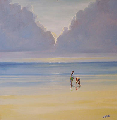 Painting - On The Beach by Deon West