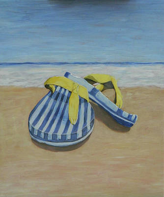 Painting - On the Beach by John Pendarvis