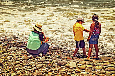 Art Print featuring the photograph On The Beach - Lima by Mary Machare
