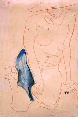 Male Nude Drawing Drawing - On The Beach by Lyudmila Arangelova