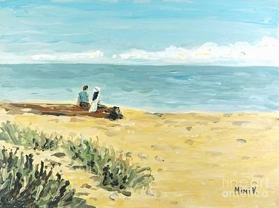 Painting - On The Beach by Maria Langgle