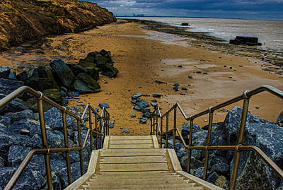 On The Beach Art Print by Martin Newman