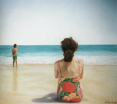 Painting - On The Beach by Rich Milo