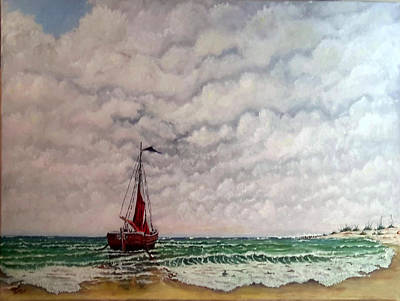 Painting - On The Beach Sold by Richard Benson