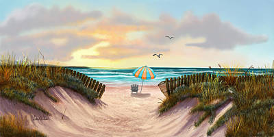 Painting - On The Beach by Sena Wilson