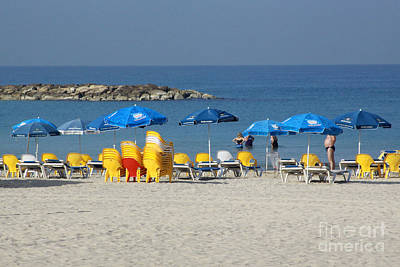Photograph - On The Beach-tel Aviv by PJ Boylan