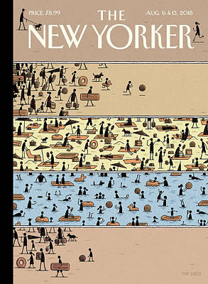 Tom Gauld Drawing - On The Beach by Tom Gauld