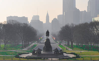 On The Benjamin Franklin Parkway Art Print