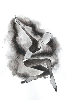 Painting - On The Black And White Side Of Leaping by Debi Hammond
