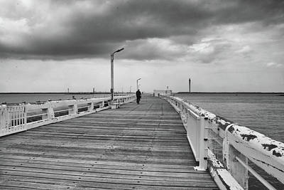 Photograph - On The Boardwalk 2 by Ingrid Dendievel