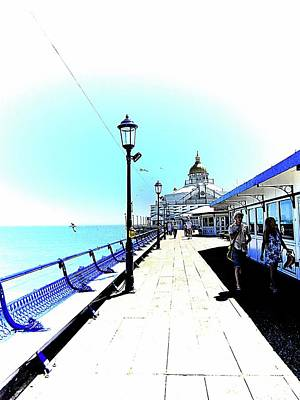 Photograph - On The Boardwalk At Eastbourne Pier by Dorothy Berry-Lound