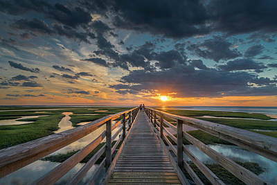 Photograph - On The Boardwalk by Betty Wiley